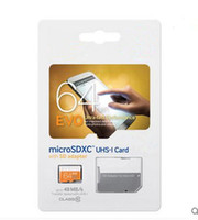 Wholesale EVO GB Micro SD Card Class UHS SDXC SDHC Transflash TF Memory Card GB w SD Adapter Sealed Package