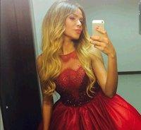 ball gallon - Tarik Emiz Evening Dress Sexy Red Floor length Ball Gallon Sleeveless Scoop Ruched Taffeta Celebrity Prom Gowns