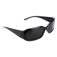Wholesale Unisex Eyesight Improve Vision Care Pinhole Spectacles Pin Eyes Vision Training Exercise Improver Eyewear Glasses Black