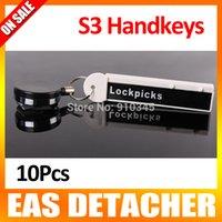 Wholesale 10Pcs The White TR48 S3 Handkey EAS Display Hook Hanger Releaser Magnetic Security Detacher
