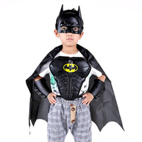 arm cloak - Unisex Children Kids Batman Armor Mask Arm guard Cloak Stage Shown Props Costumes Boys Batman Cosplay Costumes