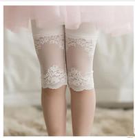 Wholesale 2015 Summer Girl Lace Leggings Kids Cotton Match Lace Leggings Kids Pants Leggings D9CAC