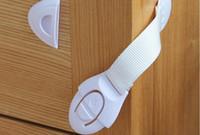 Armarios niños España-Holesale 21cm Cuidado del bebé del niño Seguridad Seguridad Gabinete Cerradura Para Gabinete Cajón Armario Puertas Nevera WC
