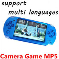 Wholesale New inch Real GB Portable game console Bulit in Camera PMP TV Out Vedio Handheld Game Player Free games MP5 Player