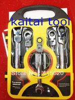 Wholesale KT set Chrome Vanadium flexible ratchet wrench hardware combination spanner CRV factory wrench set