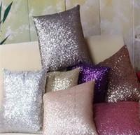 Wholesale 1Piece Multicolors x43cm Sparkling Solid Color Glitter Sequins Throw Pillow Case Decoration Cushion Cover BZT