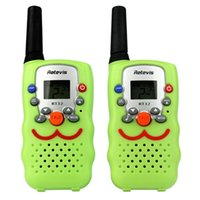Wholesale Kids toy Retevis Walkie Talkie RT32 W FRS GMRS UHF VOX Scan Monitor LED Flashlight Two Way Radio For Children A9113G