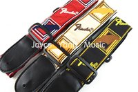 Wholesale Vintage Style Acoustic Electric Guitar Strap Woven Nylon Leather Ends Strap Wholesales