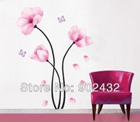 Wholesale Romantic Peach Blossom Removable Wall Decals Stickers Furniture Living Room Decor Mural Art Sticker JiaMing Home Decoration