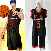 basketball jersey uniform - Anime Kuroko no Basuke GAKUEN No Aomine Daiki Basketball Jersey Cosplay Costume unisex Sports Wear Uniform emboitement