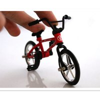 Wholesale NEW Game Fingerboard Alloy Mini Finger Bicycle Bike Skateboard Fashion Finger Toys Suit Kids Child Gift Set