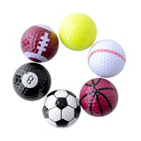 best two piece golf ball - Set Novelty Assorted Creative Champion Sports Golf Double Balls Joke Fathers Day Best Present Rubber