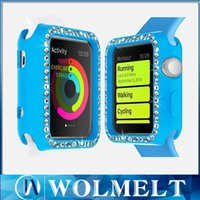 Wholesale 2015 Luxury mm Ultra Thin Diamond Case Crystal Clear TPU Silicone Soft Cover For Apple Watch mm mm Free Ship