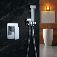 Wholesale Bathroom bidet shower mixer toilet spray bidet shower set include hand shower gun bidet taps
