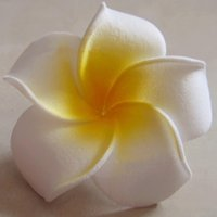 Cheap wholesale 9CM artificial floral foam eva plumeria flower,diy craft for hawaiian hair clip accessories&wedding party decorations!