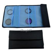 Wholesale 6 Pockets Camera Filter Carry Case Bag for Round Square Filter UV FCCB03 H35