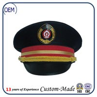 airlines military - Custom made Airline Uniforms accessories cap captain co pilot hat and empty small cap security caps Male senior clubs selling
