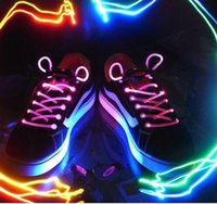 Wholesale Luminous Shoelaces Genuine Creative Personas LED Light Shoelaces Outdoor Fashion Personality Fluorescence Shoelaces Sell Like Hot Cakes
