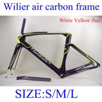 bicycles - 2015 Wilier air carbon frame BB386 bottom bracket size S M L full carbon bicycle frameset White Blue white red matt white yellow fluo colors