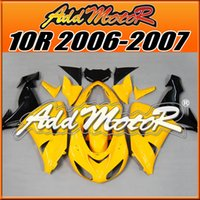 Wholesale Addmotor Hotsell Injection Mold Plastic Fairings For Kawasaki ZX R ZX R Body Kit Yellow K1626 Five Free Gifts