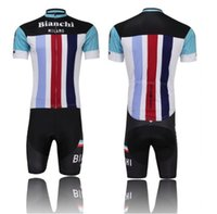 Short bicycle clothes - NEWEST BIANCHI cycling jersey cycling clothing cycling wearing bicycle clothing Bib shorts set men breathable quick dry Summer S XL
