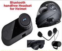 bluetooth motorcycle helmet - 1pcs box Waterproof Motorcycle Helmet Bluetooth Headset Moto Interphone Hand Free For Phone Music MP3