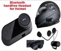 bluetooth motorcycle helmet - 2015 Newest Waterproof Motorcycle Helmet Bluetooth Headset Moto Interphone Hand Free For Phone Music MP3