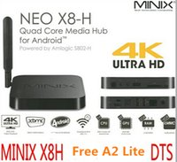 Wholesale MINIX NEO X8 H Plus Amlogic S812 Quad Core Android TV Box G ROM H K AC Dual WIFI BT HDMI OTA With A2 Lite Airmouse