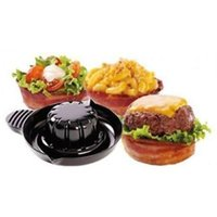 bacon - Perfect Bacon Bowls Cook in Oven Toaster or Microwave Bowl for Soups Chili