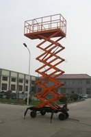 Wholesale Mobile Scissor Lift Platform High strength steel structures smoothly lifting up and dropping down easily move and operated few faults