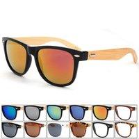 acrylic hinge box - Fashion UV400 Unisex Bamboo Leg Classic Sunglasses Metal Hinge Eyewear high quality Box cloth
