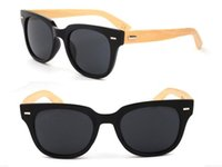 Fashion wood eyewear - New Style Wood Sunglasses Natrual Bamboo Sunglasses Eyewear Glasses Style Hand Made Wooden Sunglasses Plastic Frame