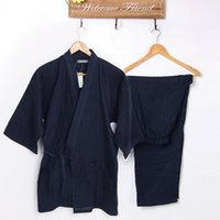 Wholesale The Kimono Nightgown Men s spring summer double gauze Pure Cotton of Japan leisure wear pajamas
