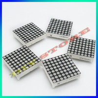 Wholesale 5 Digital tube mm x8 quality of LED dot matrix super bright red green double color line of Common anode