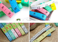 Wholesale Measuring Tape M Inch Tailoring Tape Measure cloth tape measures ruler waist tape body measure Dropshipping