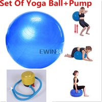 yoga ball exercise ball - Set Of cm Exercise Fitness Aerobic Ball For GYM Yoga With Pump Good Quality Hot Sale