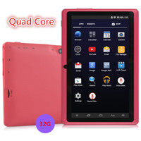Wholesale Sale Under Quad Core gb Red quot Inch A33 Android Kit Kat gb Tablet Pad Pc Wifi Bluetooth Camera