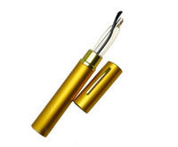 glasses reading - High Quality Ultra Slim Trim Reading Glasses Gold Trim Hard Tube Case Metal Mini Tube Reader Strength