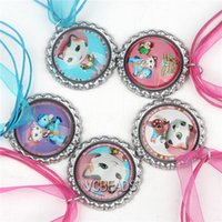 Necklace baby wild cats - Sheriff Callie s Wild West Necklaces New Arrival Ribbon Necklace Cartoon Cat Pendants Baby Children Jewelry Accessories Kids Jewelry