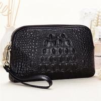 aligator leather - 2016 Fashion crocodile evening bags genuine leather handbags women aligator clutch bag messenger shoulder bags clutches purses