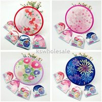 Wholesale fans for children safety Round shaped foldable fans Japanese style fans art fans Hand fans hand held fans baby fans