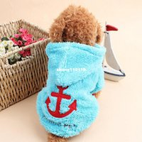 anchor blue jacket - Pet Shop Cheap Sale Fleece Dog Cat Clothes Winter Warm Coat Brand Anchor Costumes Dog Hoodie Clothes Chihuahua Clothing For Dogs