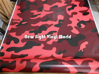 vinyl for car wrapping - Elite Red Jumbo Camouflage Vinyl Wrap Film Red Camo Vinyl Roll Bubble Free For Car Wraps Size m Roll