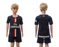 jerseys for kids - Kids Soccer Kits PSG Paris Saint German Blue Blank Football Jersey Short Sportswear for Childrens custom name number