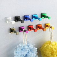 Wholesale colors clothes hook bathroom good quality Space aluminum luxury clothes hook hangers hanging hook rack holder