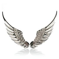 Wholesale New Popular Cool D Beautiful Alloy Metal Angel Hawk Wings Car Emblem Badge Decal Sticker Case Car Styling
