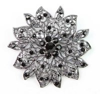 aqua blossom - Beautiful Fashion Woman Glass Rhinestone Blossom Flower Brooch Pin For Party order lt no tracking