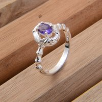 Cheap new arrival Solitaire Ring 925 silver crystal CZ Gemstones rings