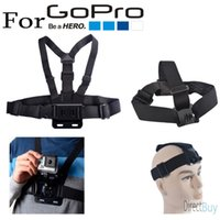 Wholesale Gopro Accessories Harness Adjustable Elastic Chest Belt Head Strap For Go pro Hero sj4000 xiaomi yi Camera
