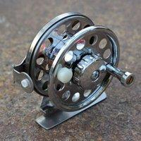 Cheap New Mini metal Fishing Reel   Pole Fishing Line Spinning Reels Fly Ice Fishing Reel ,free shipping FHG_100